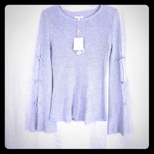 NWT🌟LC Lauren Conrad Bell Sleeve Bow Sweater XS